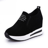 TENGOO Ldy-A Women Leisure Platform Hidden Wedge Heels Slip on Sneakers Shoes Sports Shoes