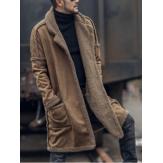 MensPlusSizeWoolBlendDouble Side Mặc áo khoác dày