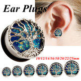 2 Pcs Tree of Life Tunnels Flesh Tunnels Ear Gauges Earring Plugs Body Piercing Jewelry