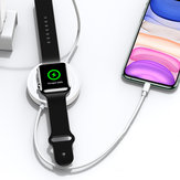 USAMS 3 In 1 Wireless Charger Phone Charger Earphone Charger Watch Charger with USB Cable for Qi-enable Smart Phones Apple AirPods Pro Apple Watch Series 1 2 3 4 5