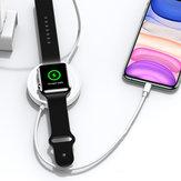 USAMS Caricabatterie per telefono caricatore wireless 3 in 1 Auricolare Caricabatterie per orologio per caricabatterie con cavo USB per smartphone Qi-abilitati AirPods Apple Pro Serie Apple Watch 1 2 3 4 5