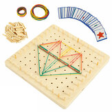 Wooden Threading Plate Board Toys Montessori Children Kids Early Educational Game Christmas Gift