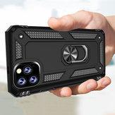 Bakeey Armor Magnetische 360 graden roterende ringhouder PC schokbestendige beschermhoes voor iPhone 11 Pro Max 6,5 inch