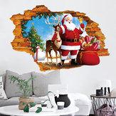 Miico XH7247 Adesivo de Natal Decoração de Casa Adesivo Janela e Adesivo de Parede Loja Adesivos Decorativos