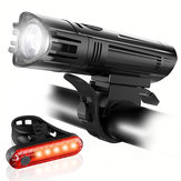 T6 Bike Light Set 650LM Ultra Bright IPX4 1300mAh 4 Modes USB Rechargeable Bike Front Light 5 LED Tail Light