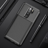 For Xiaomi Redmi Note 8 Pro Case Bakeey Luxury Carbon Fiber Shockproof Silicone Protective Case