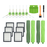 19pcs Replacements for iRobot Roomba i7 Vacuum Cleaner Parts Accessories 6*Side Brushes 6*Filters 4*Main Brushes 1*Screwdriver 1*Yellow Brush 1*Silicone Baffle