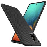 Bakeey Carbon Fiber Texture Slim Soft TPU Anti-Fall Anti-Fingerprint Housse de protection pour Samsung Galaxy A71 2019