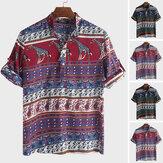 Dashiki Africano dos homens Floral Camisetas de manga curta feriado havaiano mexicano Tops