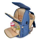 Waterproof Diaper Bag Mummy Bag Baby Care Bag Outdoor Traveling USB Backpack