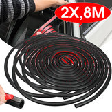8M Large D Shape Sealing Strip Car Door Window Trim Edge Moulding Rubber Black