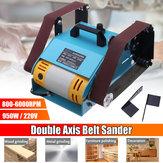 950W 220V Double Shaft Belt Sander Multi-function Bench Electric Polisher