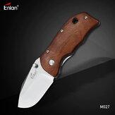 Coltello pieghevole Enlan M027 tascabile con lama 8Cr13Mov con manico in legno Coltello in acciaio inossidabile con rivestimento interno