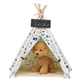 Pet Dog House Zmywalny namiot Puppy Cat Indoor Outdoor Home Play Teepee Pet Bed