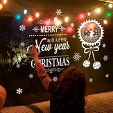 Miico ABQ6004 Weihnachten Aufkleber Kreative Text Muster Wandaufkleber Abnehmbare Raumdekoration