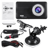 4 tommer HD 1080P dobbeltobjektiv bil DVR for- og bagkamera Video Dash Cam-optager