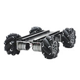 D-45 DIY Metal Inteligente RC Robot Car Chassis Base Com Rodas Omni Compabible Com UNO