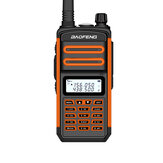 BAOFENG BF-S5plus 18W 9500mAh IP67 Impermeabile UV Doppio Banda Palmare bidirezionale Radio Walkie Talkie 128 Canali Sea Land LED Torcia Interfono per escursionismo esterno Guida Interphone civile