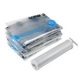 6 PC Vacuum Bolsa Seal Compressed Travel Storage Bolsa Organizador Doméstico Roupas Dobráveis Bolsa Com Bomba de Mão