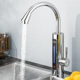 3300W Elektryczny podgrzewacz ciepłej wody Kran Diodowy wyświetlacz LED Temperatura otoczenia Natychmiastowe podgrzewanie ciepłej wody z kranu