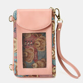 Women Bear Pattern 12 Card Slots Phone Purse Crossbody Bag