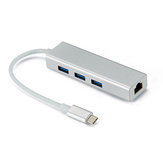 Bakeey 3100M 4 In 1 USB 3.0 Type C ke Ethernet RJ45 Ekspansi Adapter Converter HUB Untuk Laptop Macbook Komputer