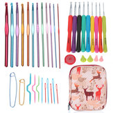 Home Use Sewing Tools Set Crochet Hooks Needles Stitches Knitting Craft Case Crochet Set Case