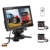 7 inch Monitor Display Truck Wireless Dual waterdichte camera 2.4G nachtzicht achteruitrijden