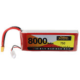 ZOP Power 7.4V 8000mAh 75C 2S Lipo Batterie XT60 Plug for RC Airplane Car
