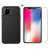 NILLKIN Shockproof Slide Camera Cover Protective Case + Bakeey Anti-explosion Tempered Glass Screen Protector for iPhone 11 Pro 5.8 inch