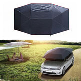 400x210cm Dachzelt zusammengeklappt UV Oxford Cloth Car Umbrella Wasserdichtes Autozelt Sunshade Movable Carport Canopy für Outdoor Camping Zelt
