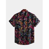 Mens Summer Holiday Ethnic Printed Shirts