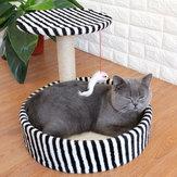 Desmontable Gato Material de sisal para marco de escalada Gato Tablero de rascar pequeño Gato Plataforma de salto Cama para mascotas