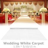 5/10/15m White Carpet Runner Wedding Party Aisle Floor Mat Exhibition Festival Roll