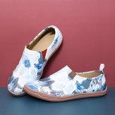 Женская цветная роспись чернилами Шаблон Soft Туфли на плоской подошве