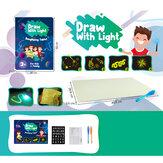 A3 Tamaño 3D Niños Luminoso Tablero de dibujo Juguete Dibujar con diversión ligera para niños Familia