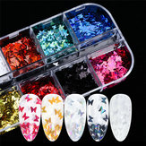 Nail Art Jewelry 12 Color Laser Magic Color Butterfly Sequin