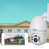 [2019 NEW] INQMEGA PTZ381 HD 1080P PTZ 360 ° Panoranic Waterproof IP Camera IR Night Version Two-way Audio