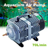 70L/min 35W/45W Electromagnetic Aquarium Air Pump Fish Pond Compressor 220V