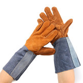 Welding Gloves Welders Work Soft Cowhide Leather Plus Gloves for Protecting Hand Tool