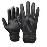 Herren Touchscreen Handschuhe PU Leder Winter Warm Wasserdicht Fleece Gefüttert Thermal