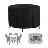Patio Table Cover Garden Round Furniture Dust Cover Collector Shelter Protector Anti-Dust Waterproof