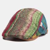 Berretti da berretto con impunture a quadri Cappelli caldi per newboys