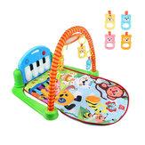 3 в 1 Rainforest Музыкальная Колыбельная Детская Активность Playmat Спортзал Игрушечный Коврик