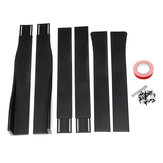 Car Side Skirt Extension Blades Matte Black Universal For BMW AUDI VW FORD 2.2M