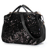 Women Ladies Sequins Handbag Leather Crossbody Tote Shoulder Bag Handbag