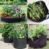 Zwarte verdikking stof Pot Plant Pouch Root Container Grow Bag Tool Gift
