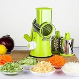 Vegetable Fruit Manual Slicer Cutter Spiral Grinder Kitchen Tools With 3 Stainless Blades