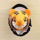 Tiger 3D Felt Animal Head Wall Room Birthday Party Christmas Artwork Decal Children Room Nursery Wall Decorations