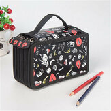 Multifunctional 72 Holes 4 Layers Pencil Case Pencil Curtain Sketch Colored Pencils Bag School Art Painting Supplies